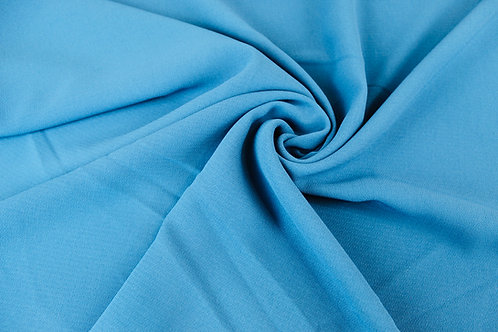 Polyester Wool Mix Fabric in Petrol Blue.