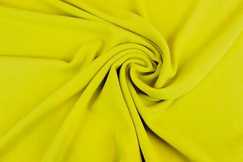 Polyester Elastane Mix Fabric in Lemon Yellow.