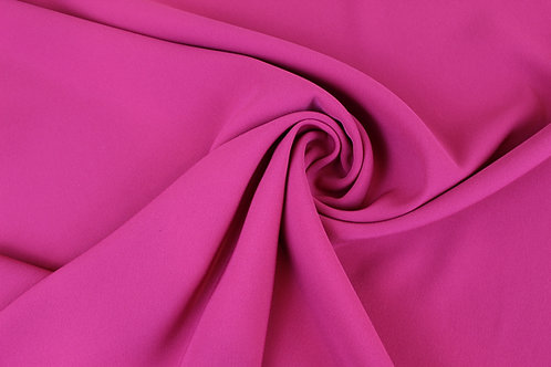Polyester Elastane Mix Fabric with a Satin Back Finish in Hot Pink.