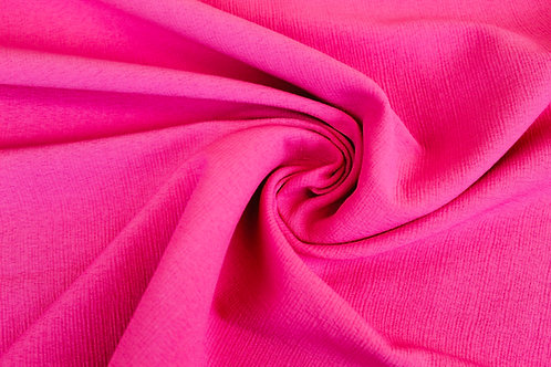 Polyester Crepe Mix Fabric in Flamingo Pink