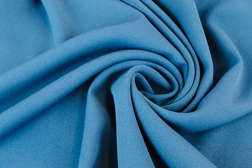 Polyester Wool Mix Fabric in Royal Blue.