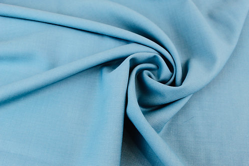 Polyester Wool  Mix Fabric in Turquoise.
