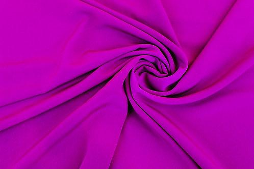 Luxury Crepe Fabric in Damson.