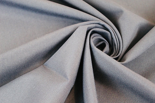Panama Polyester Wool Mix Fabric in Navy Blue.