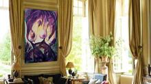 Palácový zlatý pokoj s energetickým obrazem ženství