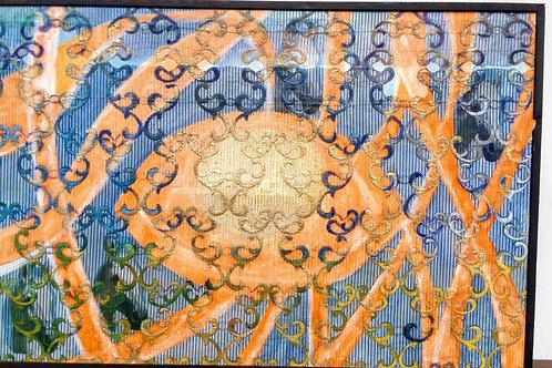 OKO  2017 olej plátno záclona 127 x 192 cm N726