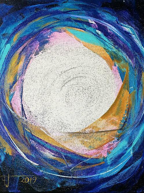 POZVÁNÍ DO ČISTÉHO ŽIVOTA 2, 2019 akryl na plátně 30 x 25 cm N886