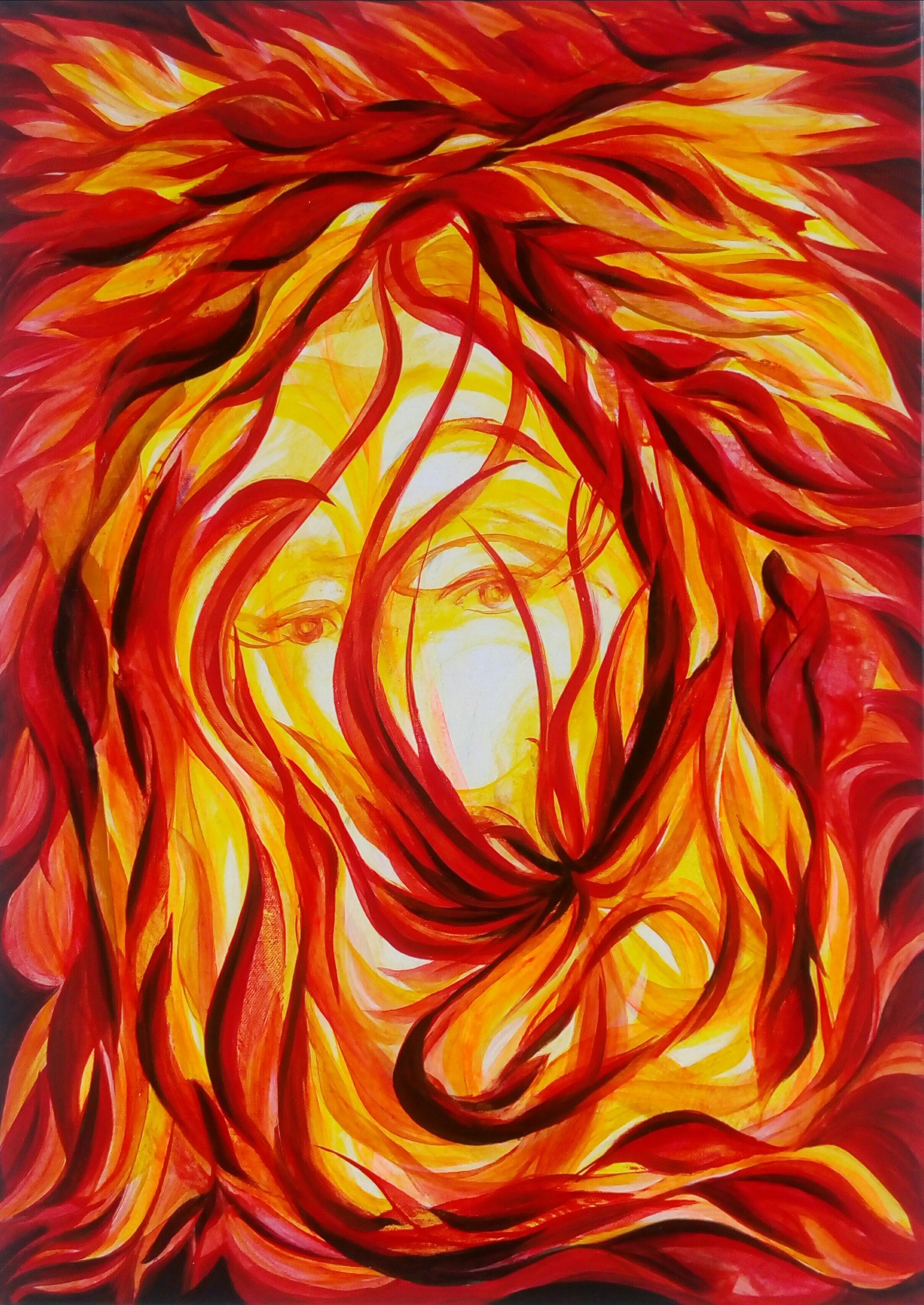 """""""Le Sage"""" acrylique sur toile"""