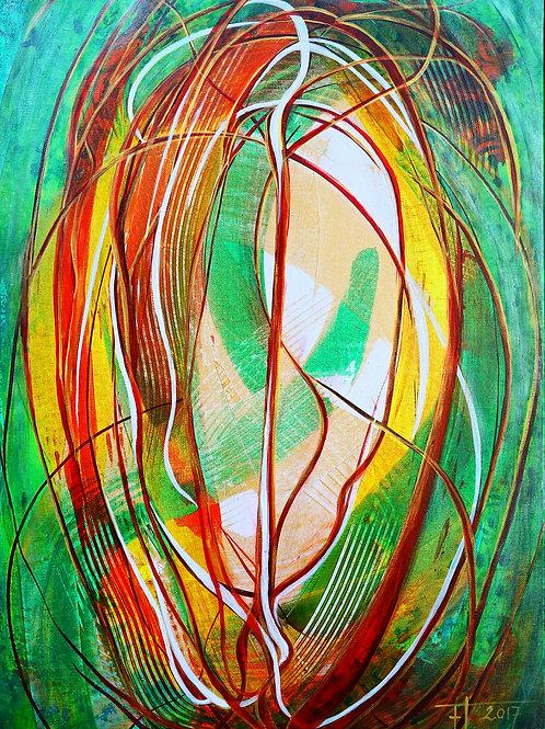 MANDOLA  2 2017 akryl plátno 70 x 50 cm N678