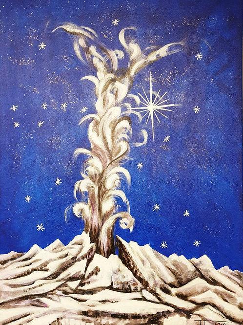 GEJZÍR RADOSTI 2, 2014 akryl na plátně 70 x 50 cm N410