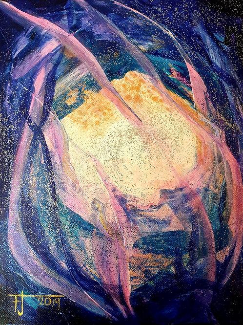 VLÁNÍ 2019 akryl na plátně 25 x 30 cm N881