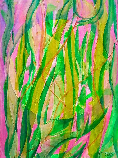"""""""PRŮHLED DO  SVĚTLA  4"""" 2017 akryl na plátně 70*50cm N°615"""