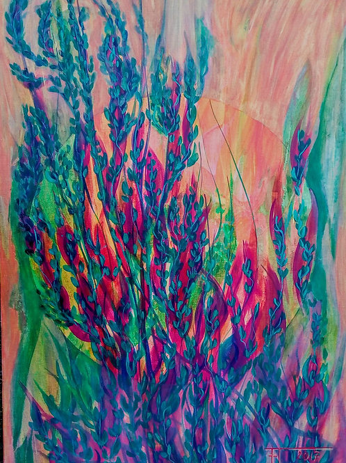 PRŮHLED DO SVĚTLA 3, 2017 70 x 50 cm akryl na plátně N614