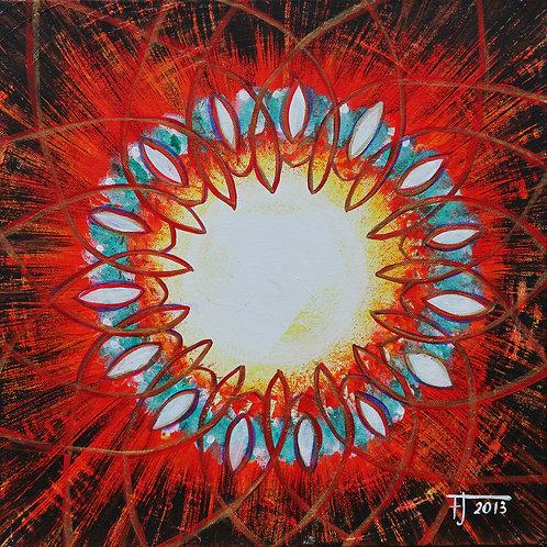 Jsem naděje, 2013  akryl na plátně 40 x 40 cm N597