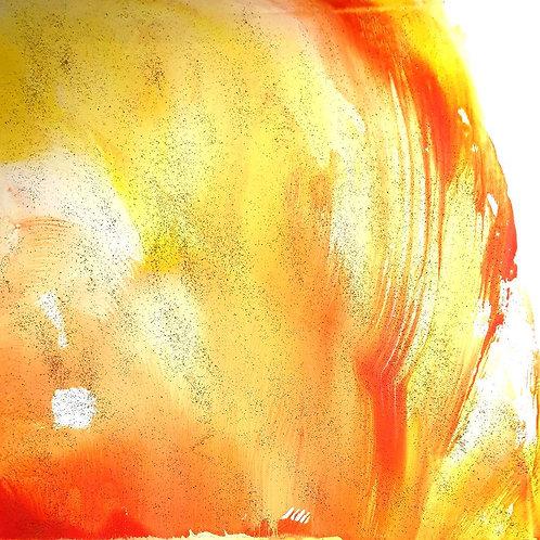 "ZLATÉ  SVĚTLO 1 "" 2020 akryl plátno 40 x 40 cm N971"