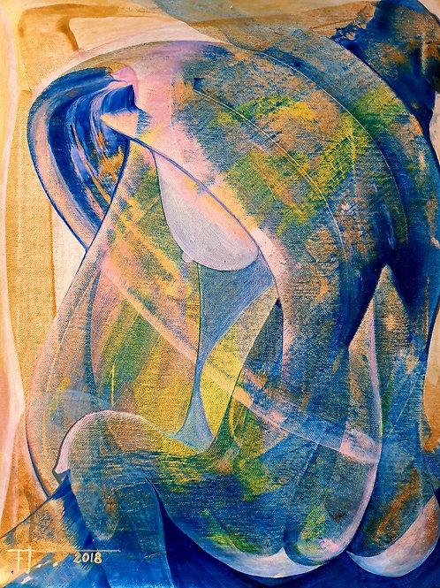 ŽENSKÁ LADNOST 2018 akryl na plátně 50 x 40 cm N762