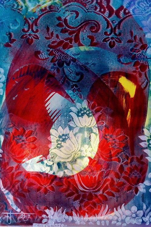 KVĚTINOVÝ TANEC 2018 akryl na plátně 70 x 50 cm N721