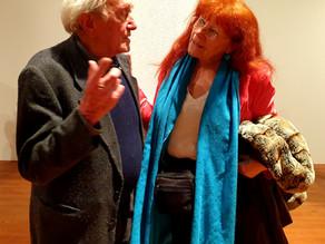 Stanislav Kolíbal na výstavě Michaela Rittsteina 1.11.2019