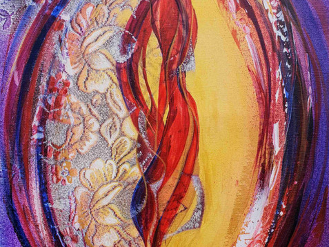 """""""Mandorla života 8"""" 2018 akryl na plátně 70 x 50 cm N822"""