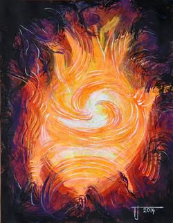 Zářivý energetický obraz Mandala