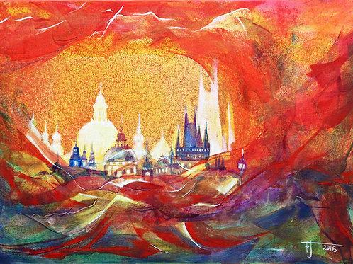 MAGIE  PRAG 9  2016  akryl plátno  70 x 50 cm N547