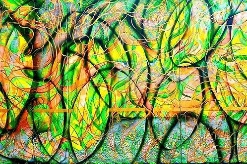 """""""ENERGIE-STREET ART"""" 2019 akryl na plátně 300 x 150 cm N889"""