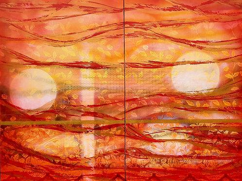 "JASNÝ  HORIZONT  1 "" 2019 akryl plátno 150 x 100 cm N899"