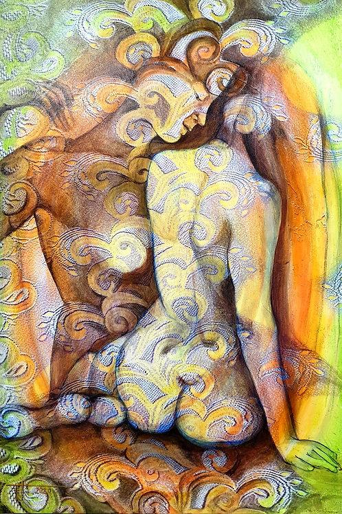 ŠEPOT INTUICE 2020 akryl na plátně 70 x 100 cm N1017