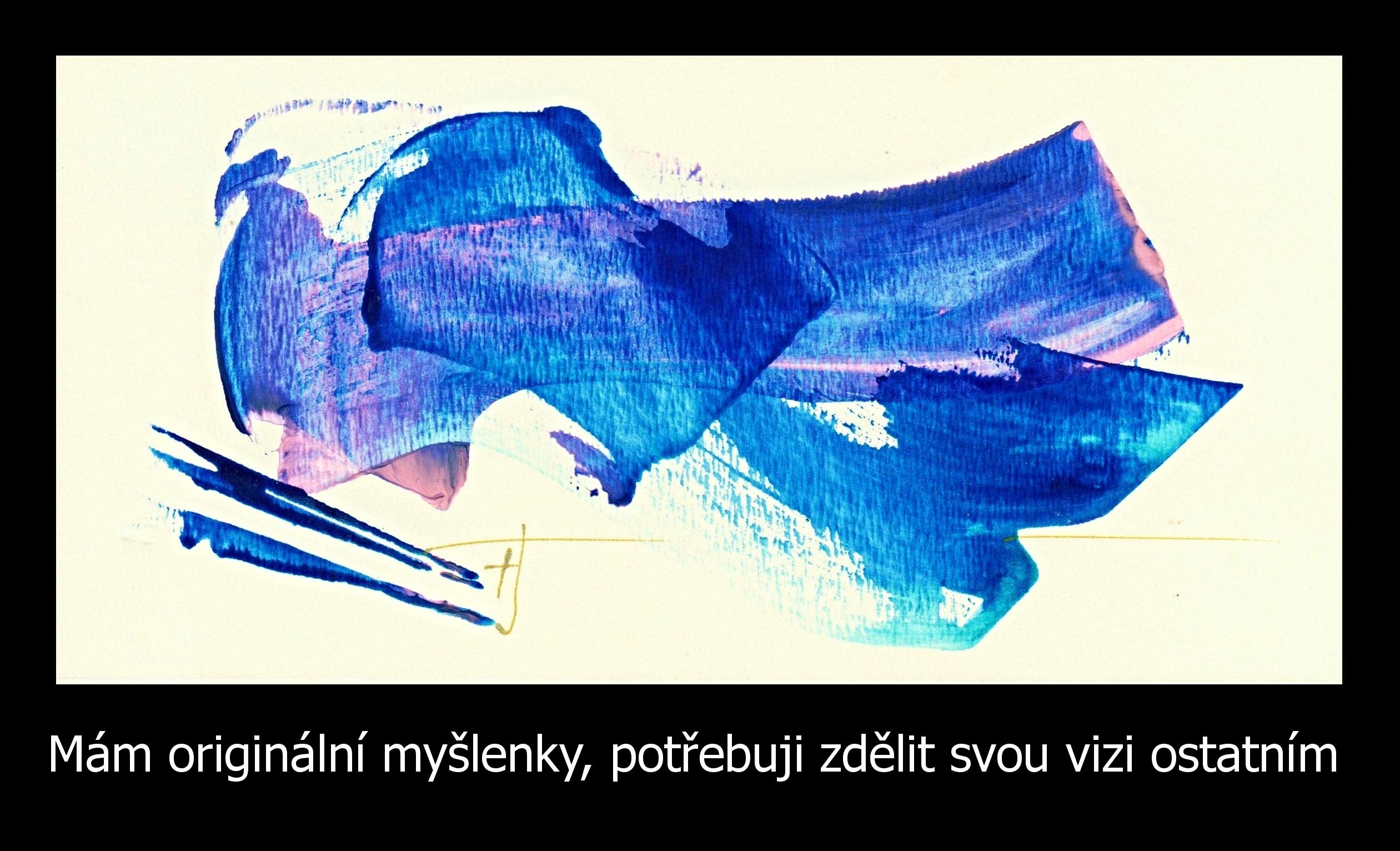 Modrý energetický obraz sposláním