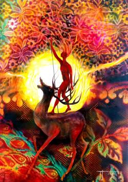 Deer, receiver of energies