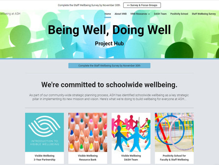 Visible Wellbeing Project Hub at ASH