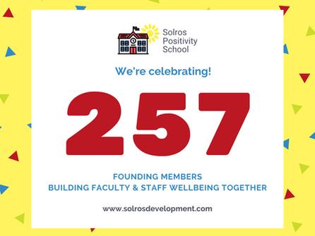 Positivity School Celebrates 257 Founding Members