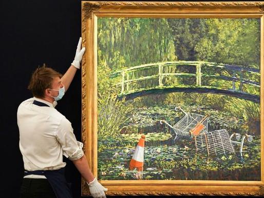 Quadro do artista Banksy é vendido por 55 milhões