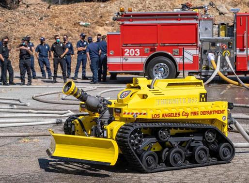 1º robô de combate a incêndios nos EUA