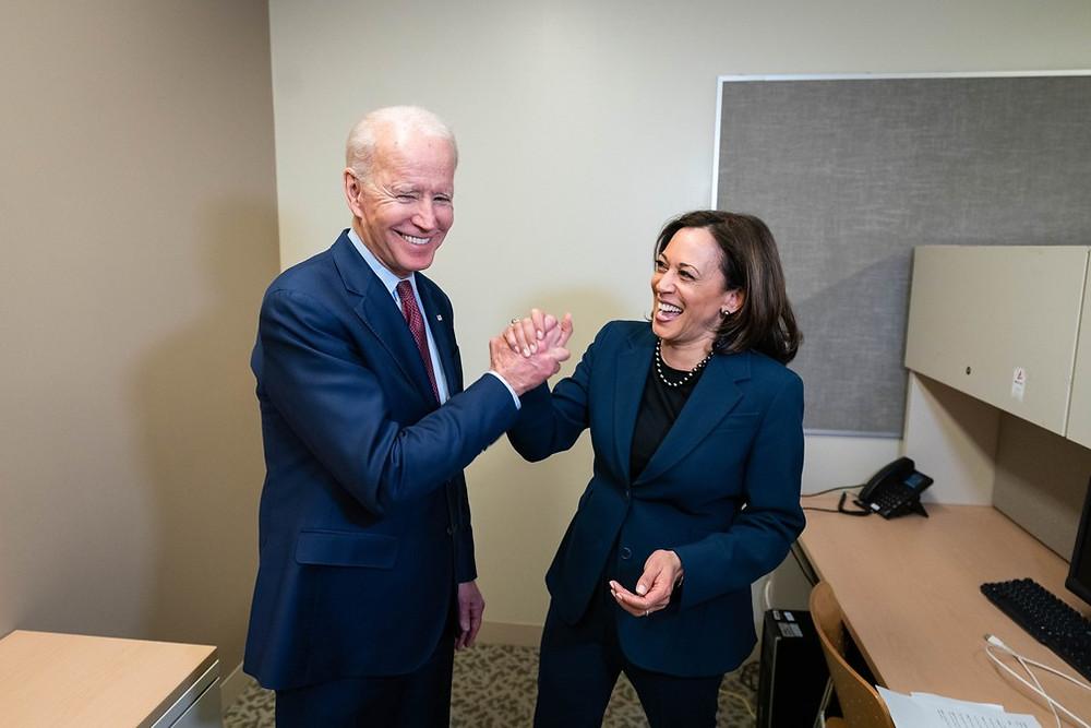 Joe Biden e Kamala Harris, candidatos a presidencia dos EUA