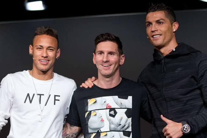 Messi Cristiano Ronaldo e Neymar melhores