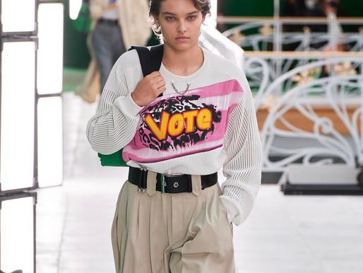LV encerra Fashion Week com show em tom político