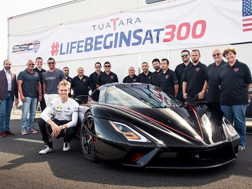 Tuatara estabelece um novo recorde de velocidade