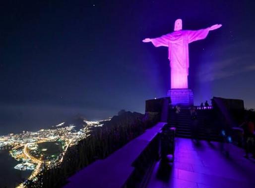 Outubro Rosa: Cristo Redentor ganha iluminação