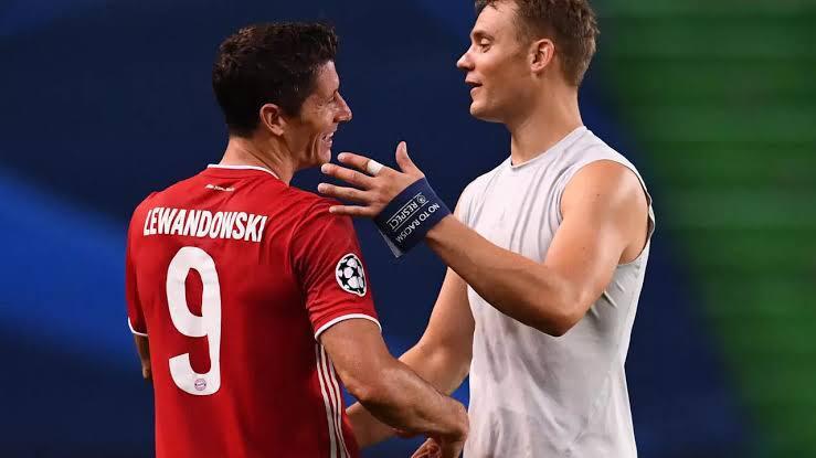 atacante Lewandowski e goleiro Neuer