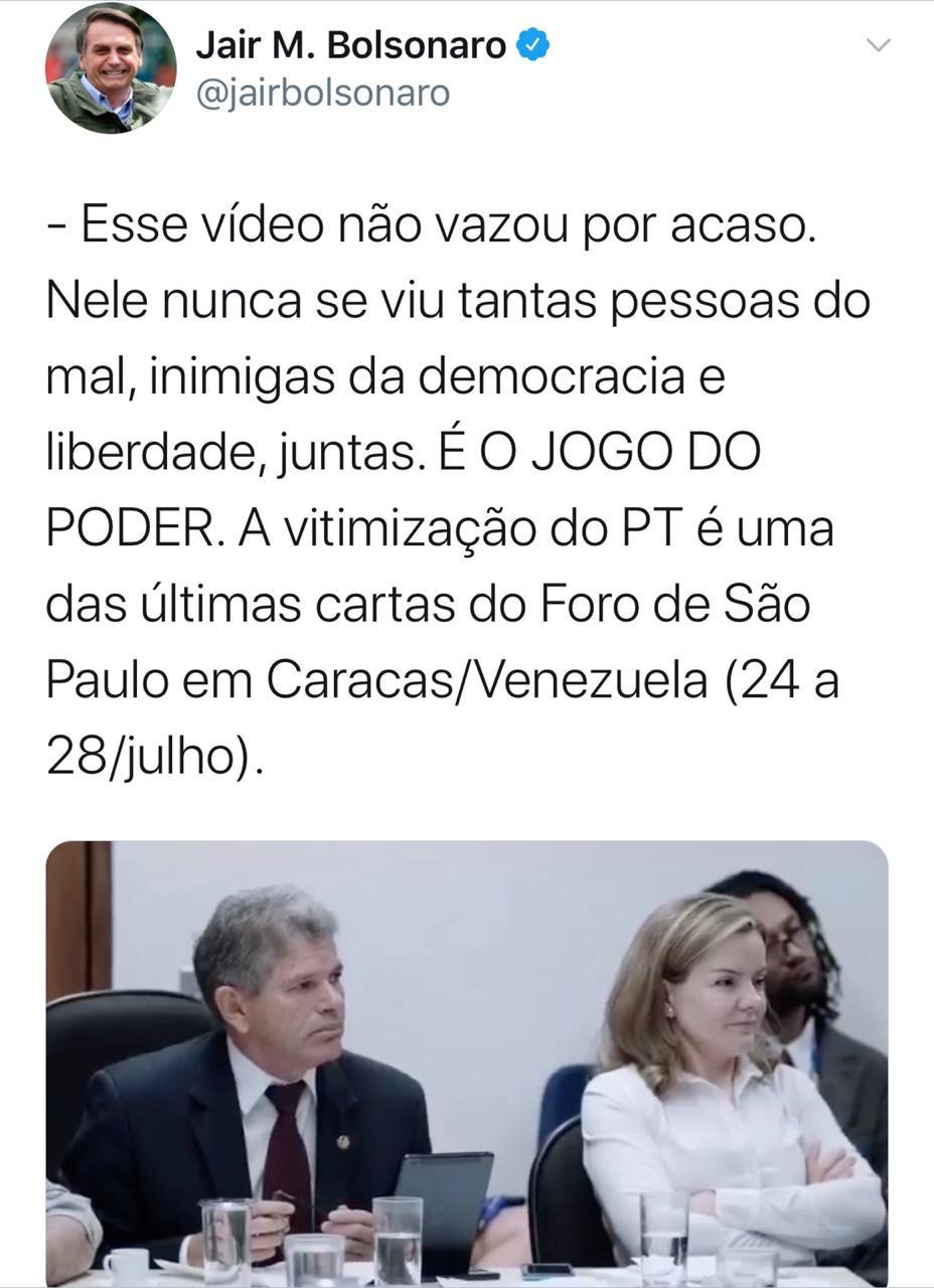 Justiça determina que Twitter apague poste de Bolsonaro