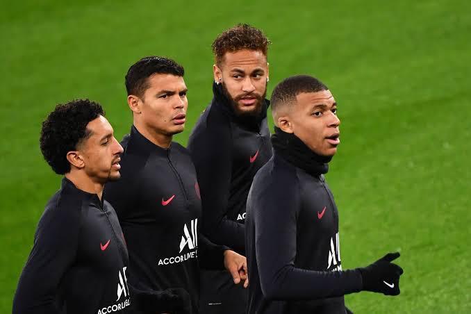 Neymar, Marquinhos e Thiago Silva