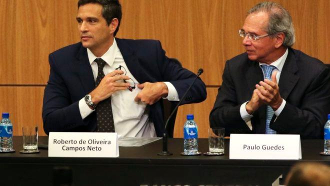 Paulo Guedes e Roberto Campos