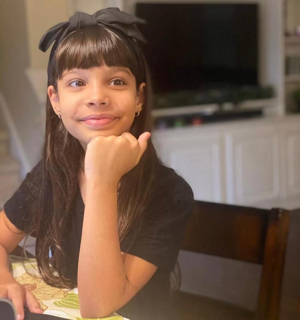brasileira Laura Büchele, de 9 anos