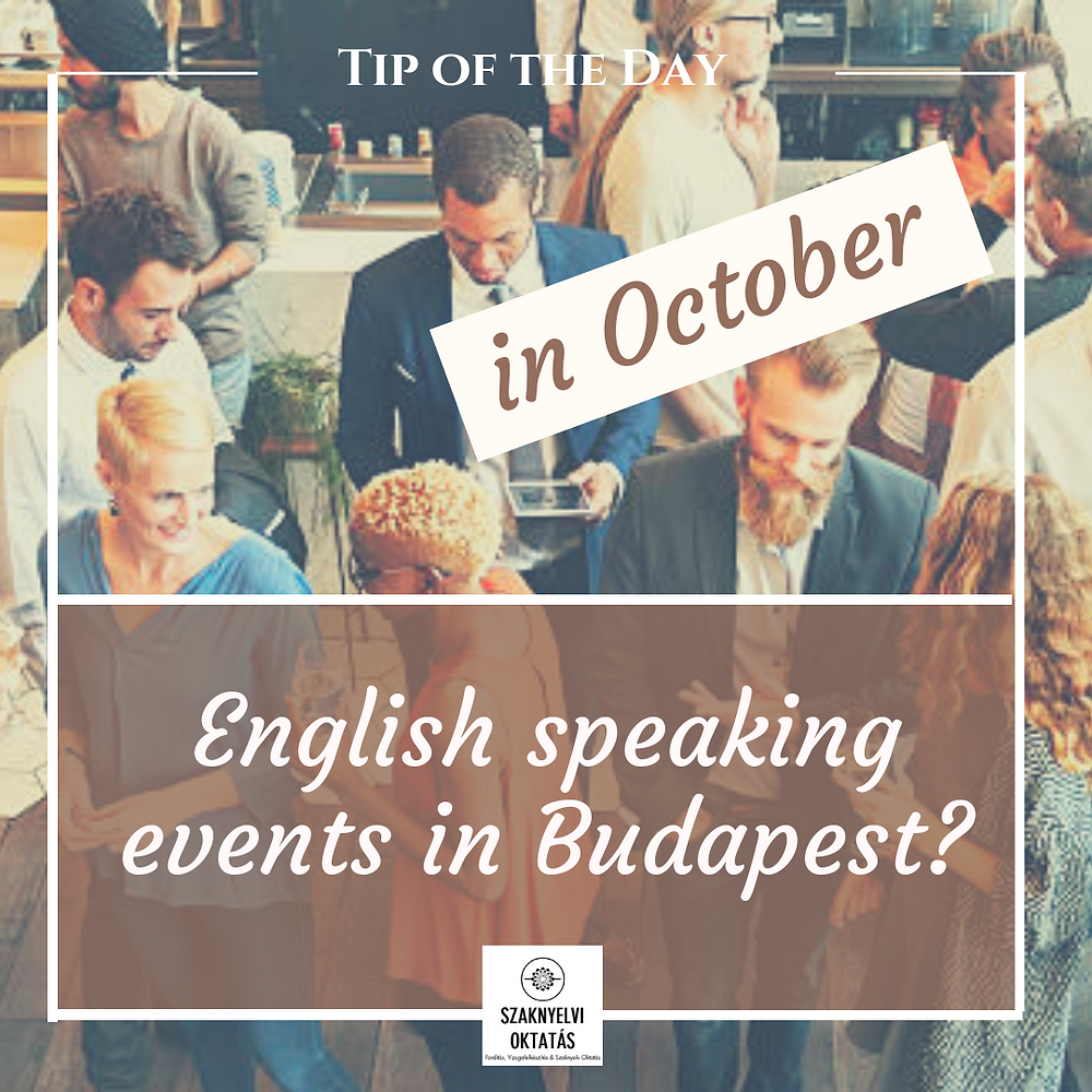 English speaking events in Budapest
