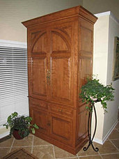Custom Armoire Bar Birch Wood Preston Mill Door Style U0026 Finish From The Yoder  Cabinets Vintage