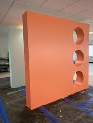 Orange Cutout Facade