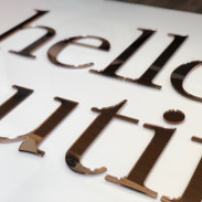 Rose Gold on Clear Acrylic Signage
