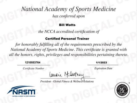 NASM-CPT Certification