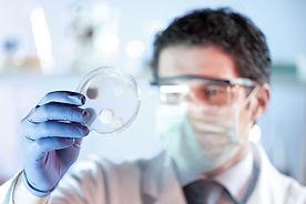 Scientist working in the corona virus va